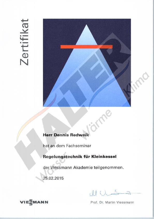 Qualifizierung: Regelungstechnik VM Redweik