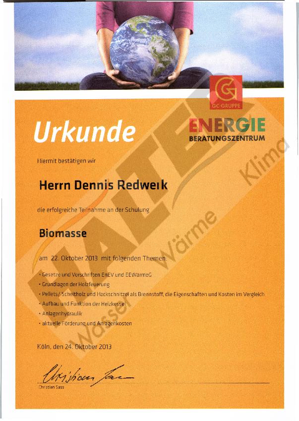 Qualifizierung: GC-Biomasse