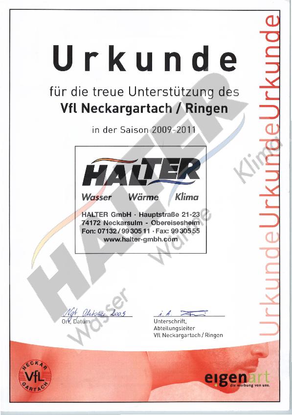 Unterstützung Vfl Neckargartach / Ringen