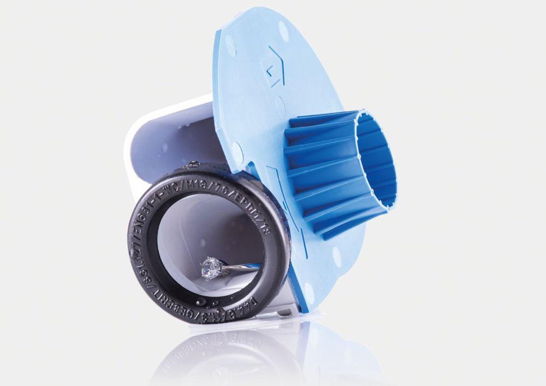 Geberit-Siphon mit integriertem Schmuckfänger