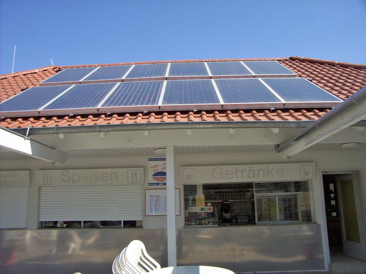 Thermische Solaranlage für Freibad Neckarsulm