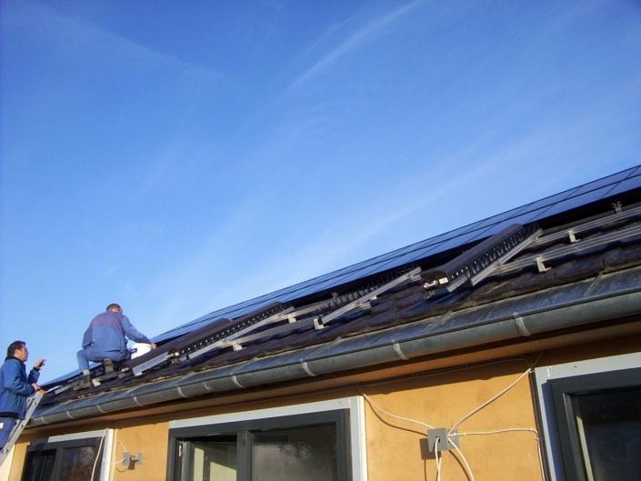 Thermische Solaranlage für Passivhaus Neckasulm